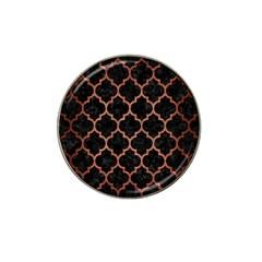 Tile1 Black Marble & Copper Brushed Metal Hat Clip Ball Marker (4 Pack) by trendistuff