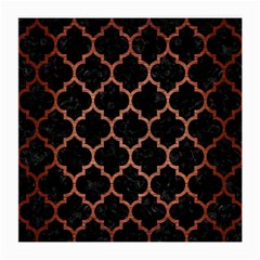 Tile1 Black Marble & Copper Brushed Metal Medium Glasses Cloth (2 Sides) by trendistuff