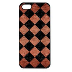 Square2 Black Marble & Copper Brushed Metal Apple Iphone 5 Seamless Case (black) by trendistuff