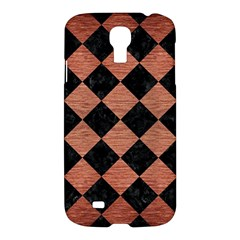 Square2 Black Marble & Copper Brushed Metal Samsung Galaxy S4 I9500/i9505 Hardshell Case by trendistuff