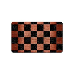 Square1 Black Marble & Copper Brushed Metal Magnet (name Card) by trendistuff