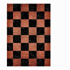Square1 Black Marble & Copper Brushed Metal Small Garden Flag (two Sides) by trendistuff