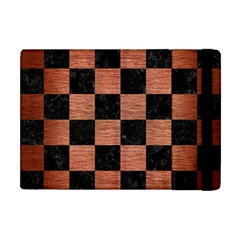 Square1 Black Marble & Copper Brushed Metal Apple Ipad Mini Flip Case by trendistuff