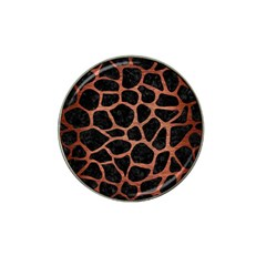 Skin1 Black Marble & Copper Brushed Metal (r) Hat Clip Ball Marker (10 Pack) by trendistuff