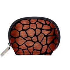 Skin1 Black Marble & Copper Brushed Metal Accessory Pouch (small) by trendistuff