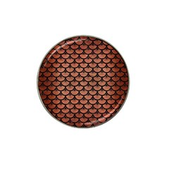 Scales3 Black Marble & Copper Brushed Metal (r) Hat Clip Ball Marker by trendistuff