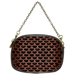 Scales3 Black Marble & Copper Brushed Metal Chain Purse (one Side) by trendistuff