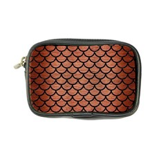 Scales1 Black Marble & Copper Brushed Metal (r) Coin Purse by trendistuff