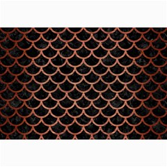 Scales1 Black Marble & Copper Brushed Metal Collage 12  X 18  by trendistuff