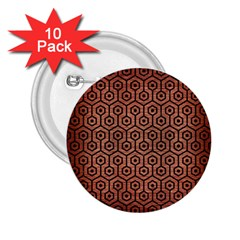Hexagon1 Black Marble & Copper Brushed Metal (r) 2 25  Button (10 Pack) by trendistuff