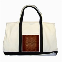Hexagon1 Black Marble & Copper Brushed Metal (r) Two Tone Tote Bag by trendistuff