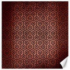 HXG1 BK MARBLE COPPER (R) Canvas 20  x 20   by trendistuff