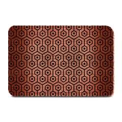 Hexagon1 Black Marble & Copper Brushed Metal (r) Plate Mat by trendistuff