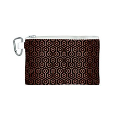 HXG1 BK MARBLE COPPER Canvas Cosmetic Bag (S) by trendistuff