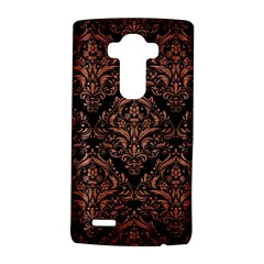 Damask1 Black Marble & Copper Brushed Metal Lg G4 Hardshell Case by trendistuff