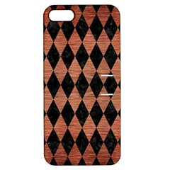 Diamond1 Black Marble & Copper Brushed Metal Apple Iphone 5 Hardshell Case With Stand by trendistuff