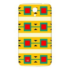 Connected Squares And Triangles 			samsung Galaxy Mega I9200 Hardshell Back Case by LalyLauraFLM