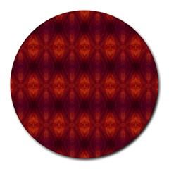 Brown Diamonds Pattern Round Mousepads by Costasonlineshop