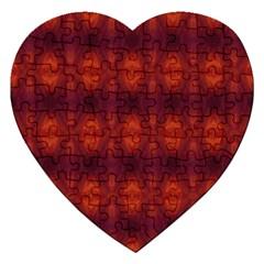 Brown Diamonds Pattern Jigsaw Puzzle (Heart) by Costasonlineshop