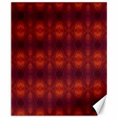 Brown Diamonds Pattern Canvas 8  x 10  by Costasonlineshop