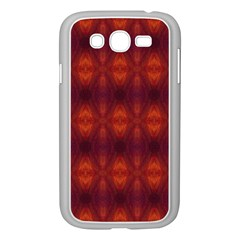 Brown Diamonds Pattern Samsung Galaxy Grand Duos I9082 Case (white) by Costasonlineshop