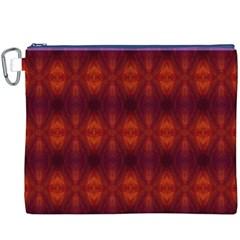 Brown Diamonds Pattern Canvas Cosmetic Bag (xxxl)  by Costasonlineshop