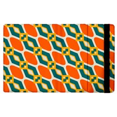 Chains And Squares Pattern apple Ipad 2 Flip Case by LalyLauraFLM