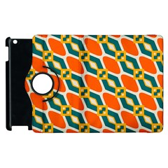 Chains And Squares Pattern 			apple Ipad 2 Flip 360 Case by LalyLauraFLM
