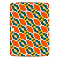 Chains And Squares Pattern 			samsung Galaxy Tab 3 (10 1 ) P5200 Hardshell Case by LalyLauraFLM