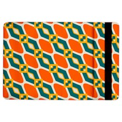Chains And Squares Pattern apple Ipad Air 2 Flip Case by LalyLauraFLM
