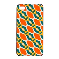 Chains And Squares Pattern 			apple Iphone 4/4s Seamless Case (black) by LalyLauraFLM