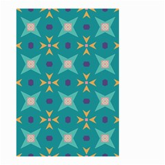 Flowers And Stars Pattern   Small Garden Flag by LalyLauraFLM
