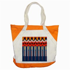 Textured Shapes In Retro Colors    			accent Tote Bag by LalyLauraFLM