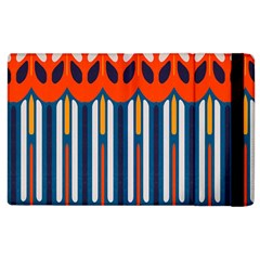 Textured Shapes In Retro Colors    			apple Ipad 2 Flip Case by LalyLauraFLM