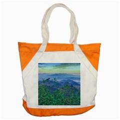 Fantasy Landscape Photo Collage Accent Tote Bag by dflcprints