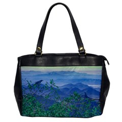 Fantasy Landscape Photo Collage Office Handbags by dflcprints