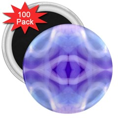 Beautiful Blue Purple Pastel Pattern, 3  Magnets (100 Pack) by Costasonlineshop