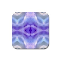 Beautiful Blue Purple Pastel Pattern, Rubber Square Coaster (4 Pack)  by Costasonlineshop