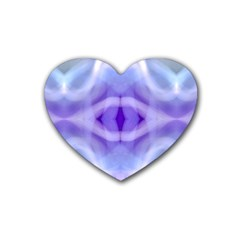 Beautiful Blue Purple Pastel Pattern, Heart Coaster (4 Pack)  by Costasonlineshop
