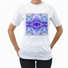Beautiful Blue Purple Pastel Pattern, Women s T Shirt (white)  by Costasonlineshop