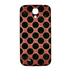 Circles2 Black Marble & Copper Brushed Metal (r) Samsung Galaxy S4 I9500/i9505  Hardshell Back Case by trendistuff