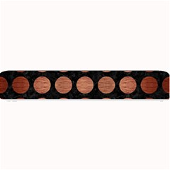Circles1 Black Marble & Copper Brushed Metal Small Bar Mat by trendistuff