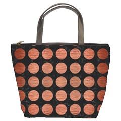 CIR1 BK MARBLE COPPER Bucket Bags by trendistuff