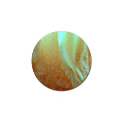 Floating Teal And Orange Peach Golf Ball Marker (10 Pack) by timelessartoncanvas