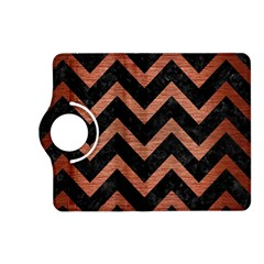 Chevron9 Black Marble & Copper Brushed Metal Kindle Fire Hd (2013) Flip 360 Case by trendistuff
