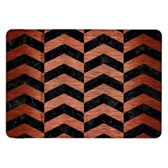 Chevron2 Black Marble & Copper Brushed Metal Samsung Galaxy Tab 8 9  P7300 Flip Case by trendistuff