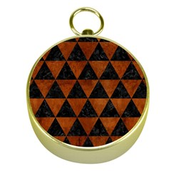 TRI3 BK MARBLE BURL Gold Compasses by trendistuff