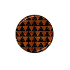 Triangle2 Black Marble & Brown Burl Wood Hat Clip Ball Marker (10 Pack) by trendistuff