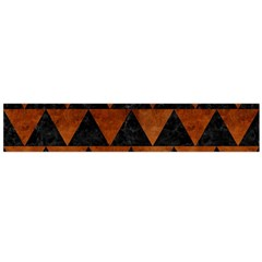 Triangle2 Black Marble & Brown Burl Wood Flano Scarf (large) by trendistuff