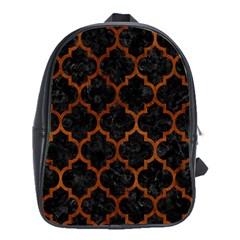 TIL1 BK MARBLE BURL School Bags (XL)  by trendistuff